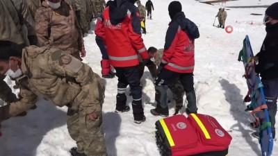 Bitlis'te 100 korucunun katıldığı çığ tatbikatı yapıldı