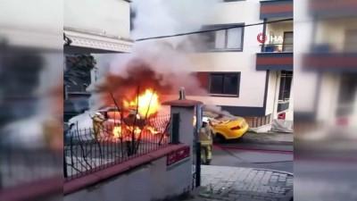 yukselen -  Çekmeköy'de korku dolu anlar: Araçlar alev aldı, evin camları patladı