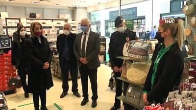Nevşehir Valisi Becel, alışveriş merkezlerini denetledi