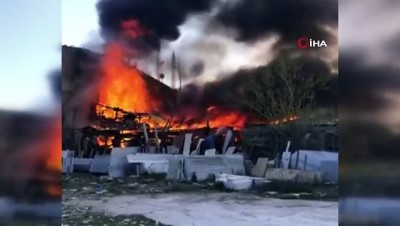 uttu -  Keresteciler Sitesi'nde korkutan yangın