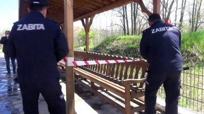 Vaka artışlarına karşı parklar şerit çekilerek kullanıma kapatıldı