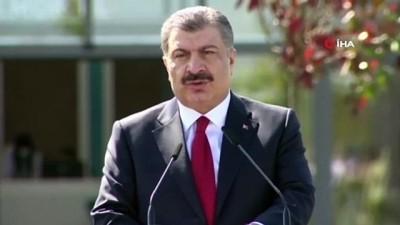 """saglik hizmeti -  - Sağlık Bakanı Koca: """"Türkiye-Arnavutluk Fier Dostluk Hastanesi'ni 68 günde bitirdik"""""""