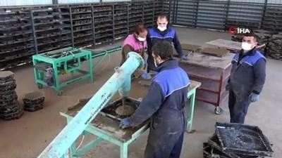 Sinop'ta parke taşı üretim tesisi kuruldu