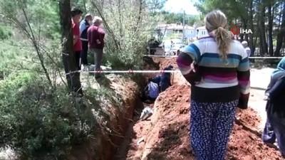 Su kanalı kazısında 'antik mezar' bulundu