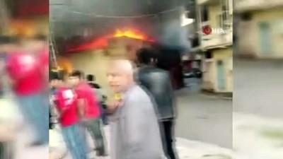 Çelik kapı,  PVC kapı ve pencere üreten atölye yangında kül oldu