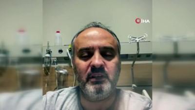 Koronavirüse yakalanan Büyükşehir Belediye Başkanı Aktaş, hastane odasından Bursalılara seslendi