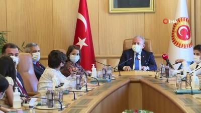 TBMM Başkanı Mustafa Şentop 23 Nisan münasebetiyle Bağcılar Belediyesi'nin etkinliğine katılan çocukları kabul etti