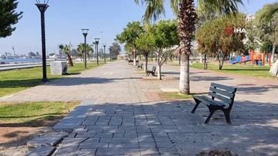3 günlük sokağa çıkma yasağının ilk günü Mersin'de sessizlik hakim