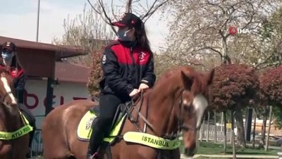 Bakırköy sahilinde atlı polis destekli kısıtlama denetimi
