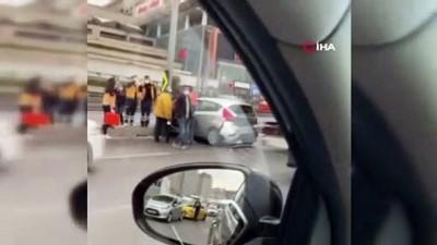 E-5 Haramidere'de trafik kazası: 2 yaralı
