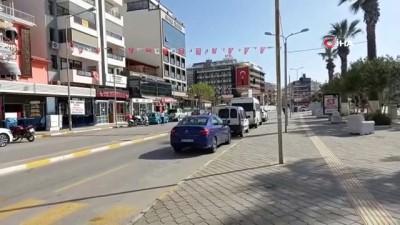 Kuşadası'nda vatandaşlar kısıtlamaya uydu, evde kaldı