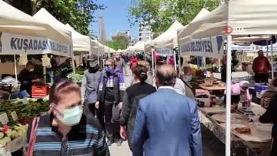 Kuşadası yerel üretici pazarında bahar bereketi