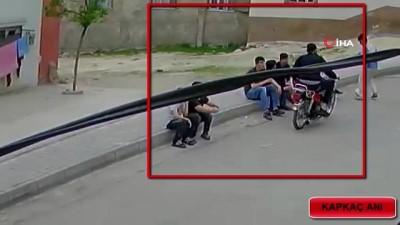 Motorlu kapkaççılar kamerada