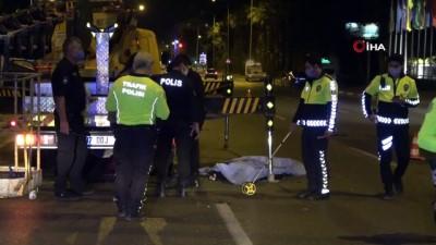 Vincin demir ayaklarına çarpan motosiklet sürücüsü hayatını kaybetti