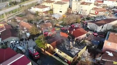 guvenlik onlemi -  Ataşehir'de çatıları saran alevler mahalleliyi sokağa döktü