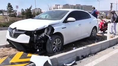 Konya'da motosiklet ile otomobil çarpıştı: 2 yaralı