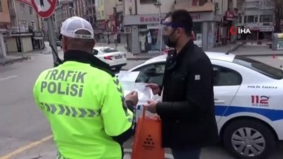 guvenlik gucleri -  Aksaray'da emniyet ve sağlık personeline siperlik dağıtıldı