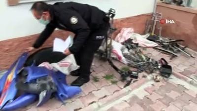 Çaldıkları motosikletle yakalanan şüpheliden 1'i tutuklandı