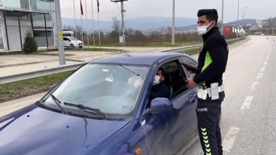 Kısıtlamada trafik denetiminde vatandaşlara ceza yağdı