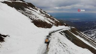 kar kalinligi -  Batıda bahar Muş'ta karla mücadele