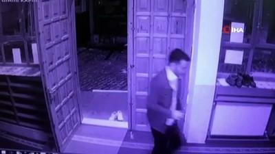 kopek -  Cami cemaatinin ayakkabısını çalan sevimli hırsız kameraya yakalandı