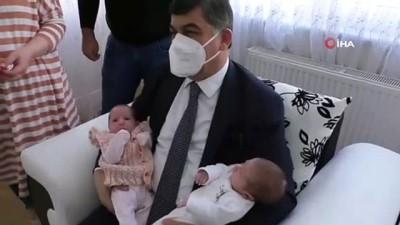 belediye baskani -  Fadıloğlu'ndan üçüz bebeklere 'merhaba' ziyareti