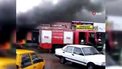 LPG sistemi takılan otomobil alev alev yandı