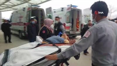 Sobadan sızan gazdan zehirlenen çift hastaneye kaldırıldı