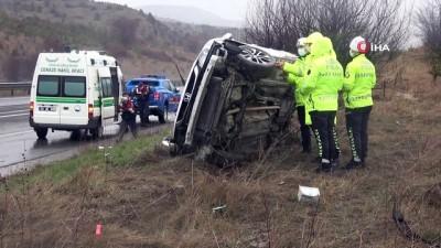 TEM otoyolunda feci kaza... Otomobil şarampole uçtu, sürücü hayatını kaybetti
