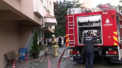 kopek -  Ataşehir'de 14 katlı binada yangın paniği