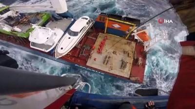 helikopter -  - Hollanda bandıralı geminin mürettebatı helikopterle kurtarıldı