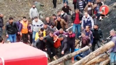 mahsur kaldi -  Kaçak maden ocağında göçük: Mahsur kalan işçi çıkarıldı