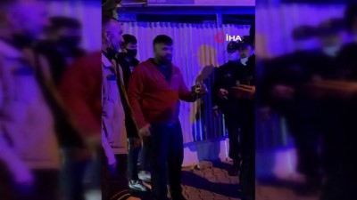 'Mahallede kavga var' diye çağrılan polislere pasta sürprizi