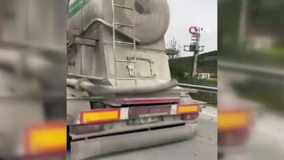Tır sürücü canını son anda alevlerden kurtardı