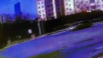 guvenlik onlemi -  Ümraniye'de iki aracın kafa kafaya çarpıştığı feci kaza kamerada