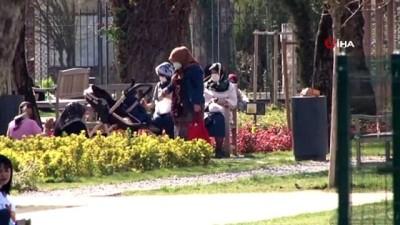 Güneşli havanın rehavetine kapılan vatandaşlar soluğu parklarda aldı