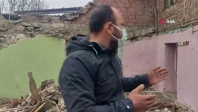 zabita -  İzinsiz inşaat yıkımı durduruldu