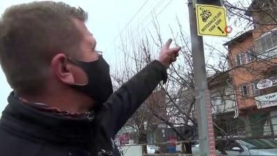Kavşaklara motosiklet uyarı levhası
