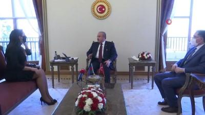 uluslararasi -  TBMM Başkanı Mustafa Şentop Azerbaycan Ombudsmanı Sabina Aliyeva ve Kamu baş denetçisi şeref Malkoç'u kabul etti