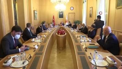 uluslararasi -  TBMM Başkanı Mustafa Şentop, Kuzey Makedonya Adalet Bakanı Marichijk'i kabul etti