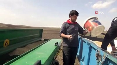 kis mevsimi -  Ağrılı çiftçilerin tohum ekme mesaisi başladı
