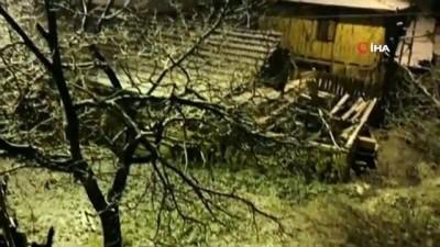 Karabük'te Nisan ayında kar yağışı