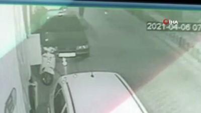 Sıfır aldığı motor 3 gün sonra çalındı...Hırsızlık anları kamerada