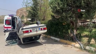 direksiyon -  Yaşlı adamın kullandığı otomobil takla attı
