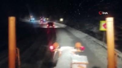 kar kalinligi -  Antalya- Konya karayolunda kar yağışı etkili oluyor