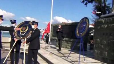 gaziler -  Ayvalık'ta polis teşkilatı 176. yılını sade bir tören ile kutladı