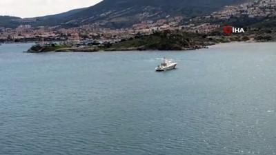 helikopter -  Foça'da düşen uçağın ardından çalışmalar devam ediyor