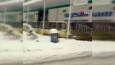 yagan -  İnegöl'de lapa lapa kar yağıyor