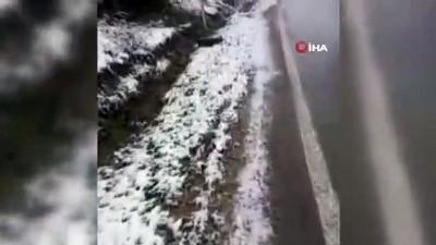 kar kalinligi -  Karabük Nisan ayında yeniden beyaz örtüyle kaplandı