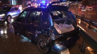 guvenlik onlemi -  Pendik'te kazaya karışan sürücüden sağlık çalışanlarına 'sabır testi'